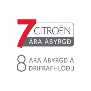 Citroen 7 ára og rafhl. ábyrgðarlogo 305x305